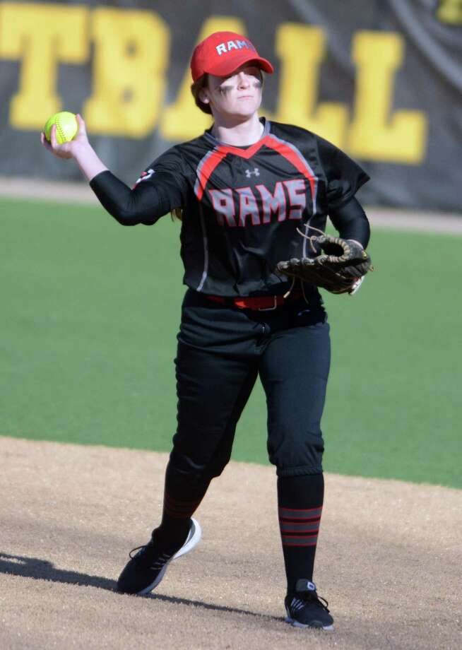 Cheshire second baseman Ariana Perlini makes a throw to first base against Hand on Wednesday. Photo: Dave Phillips / For Hearst Connecticut Media / Stamford Advocate Freelance