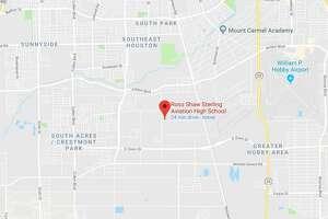 Google Maps location of Ross Sterling Aviation High School.