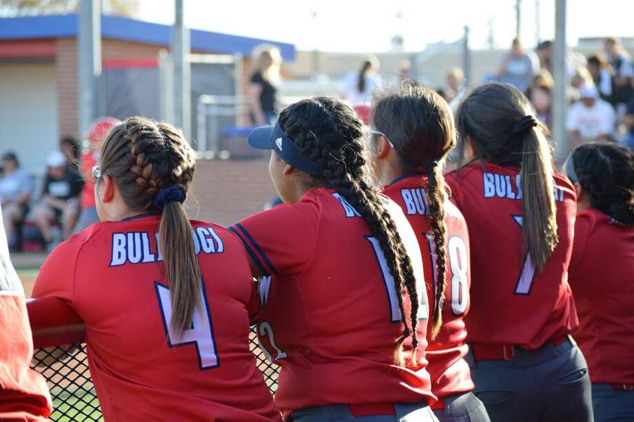 The Plainview Bulldogs varsity softball team played a home game against Randall on Tuesday, April 9. Plainview lost to Randall with a score of 15-3. Photo: Ellysa Harris/Plainview Herald