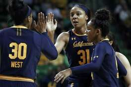 California's Kristine Anigwe (31) was selected by the Connecticut Sun in the WNBA draft on Wednesday.