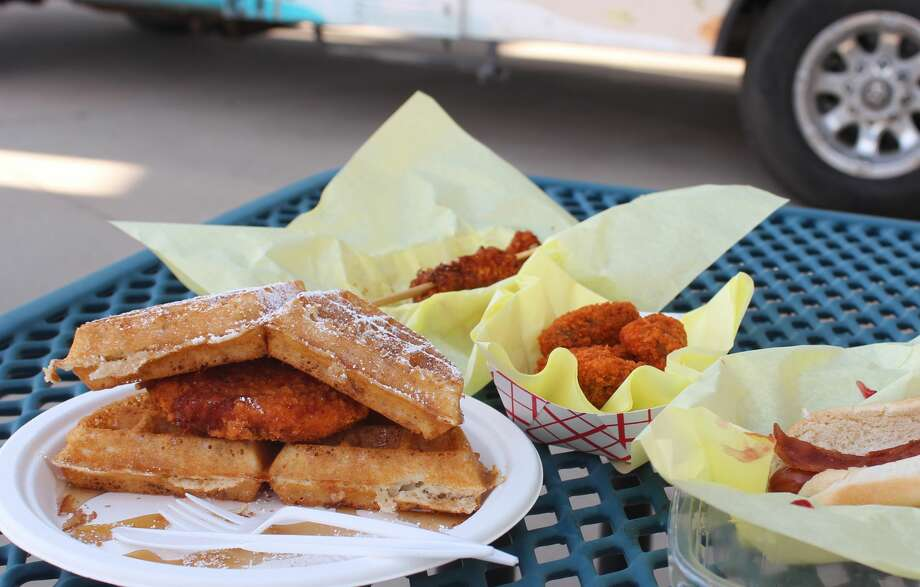 The RockHounds gave us a preview of menu items making their debut today and some popular favorites. Photo: Rich Lopez/Midland Reporter-Telegram