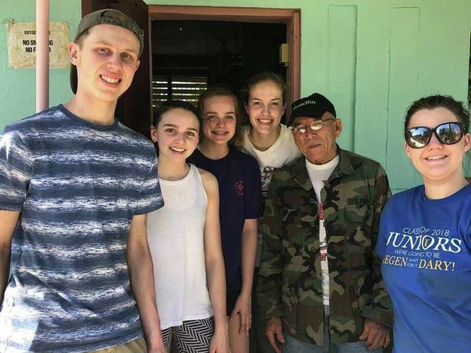 A group of students from MELHS spent Interim week in Puerto Rico where they assisted with ongoing hurricane relief. Photo: Courtesy Of MELHS