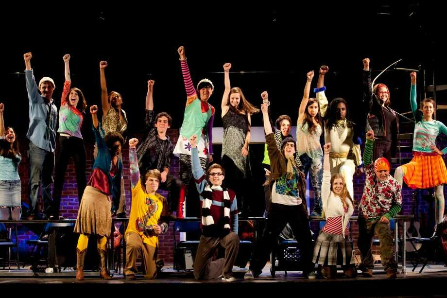"""The Staples Players ensemble rehearses """"La Vie Boheme"""" for its production of Rent, which opens Thursday, July 29, 2010. Photo: Contributed Photo, Contributed Photo / Kerry Long / Westport News"""