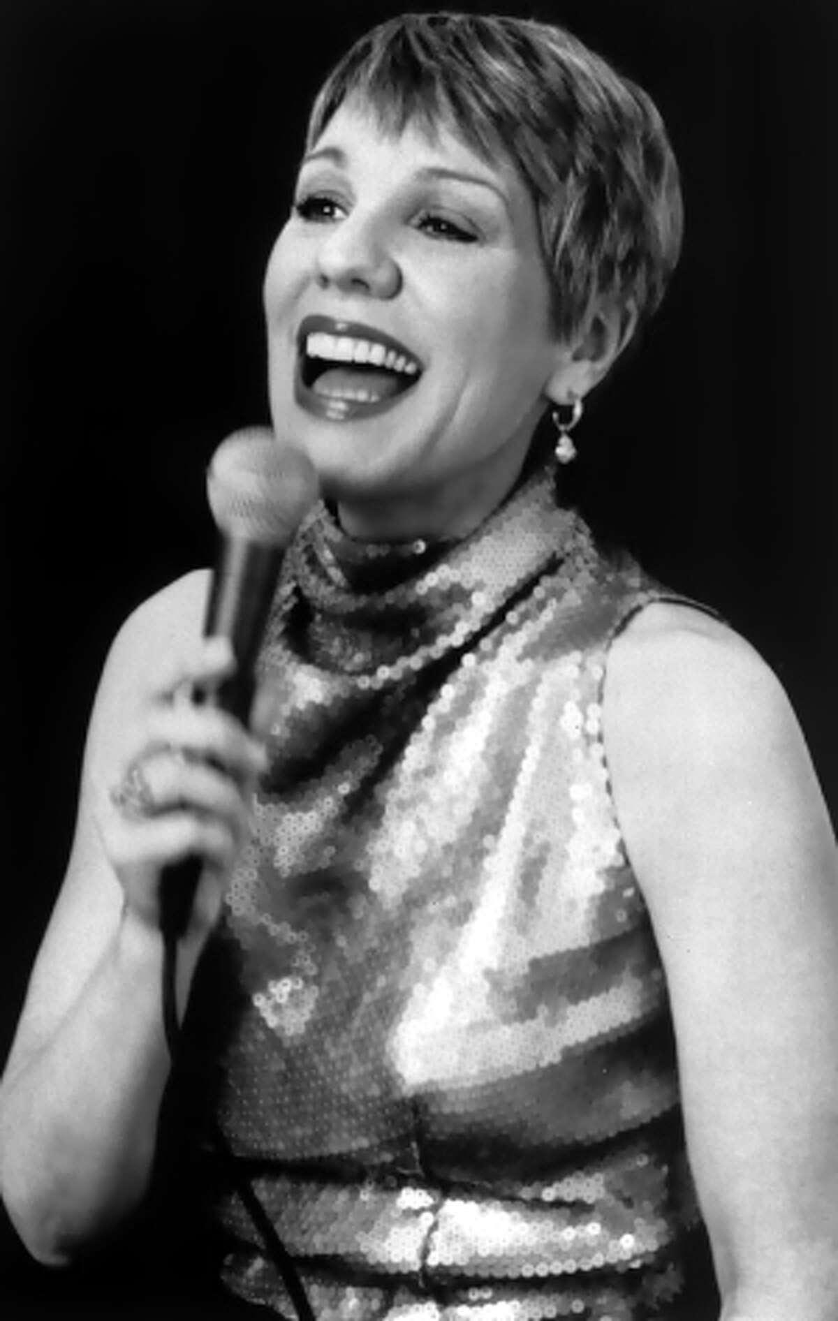 Undated B&W photo of jazz vocalist Susannah McCorkle from WEB.
