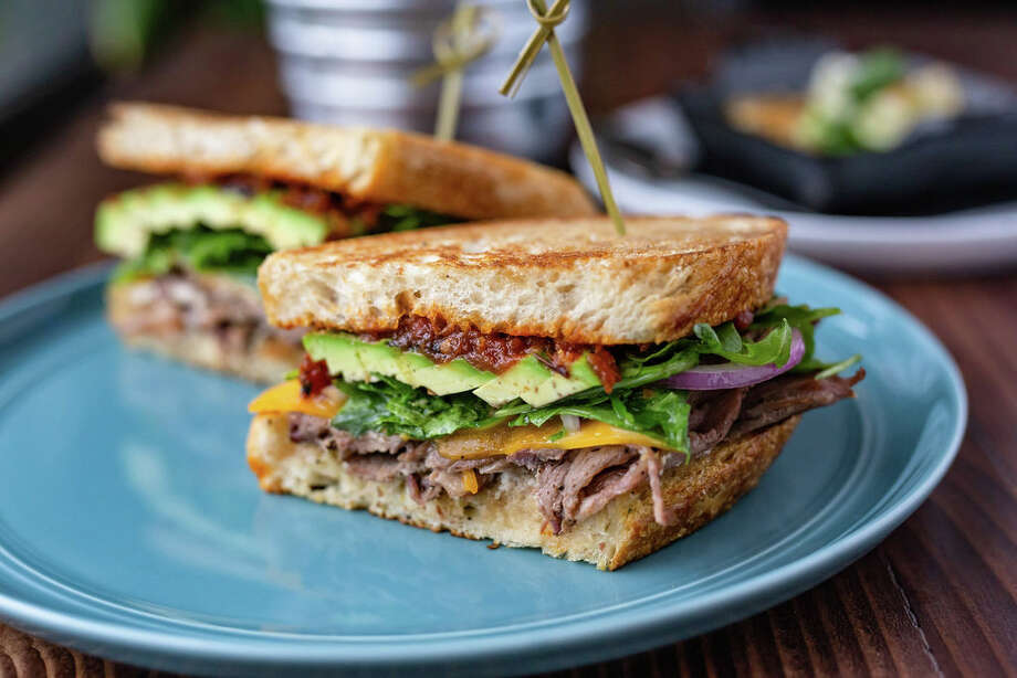 Shaved beef and avocado sandwich is among the new menu items at FM Kitchen & Bar, 1112 Shepherd. Photo: Kirsten Gilliam