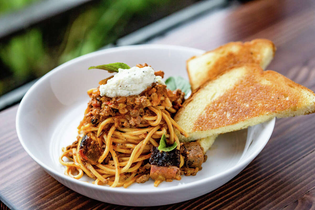 Burnt end bolognese is among the new menu items at FM Kitchen & Bar, 1112 Shepherd.