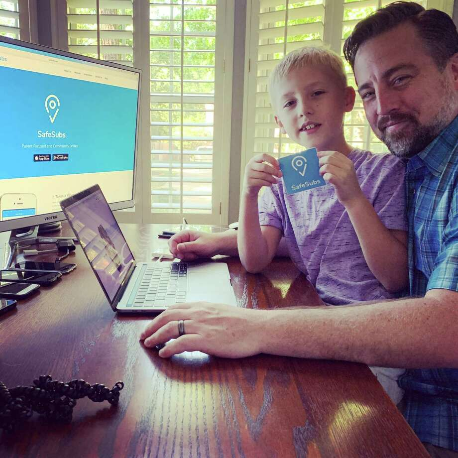 "Chris Ross, a Village of Alden Bridge resident in The Woodlands, developed an app called ""SafeSubs"" that gives parents the ability to monitor where their children play in their neighborhood. Photo: Submitted Photo / Submitted Photo"