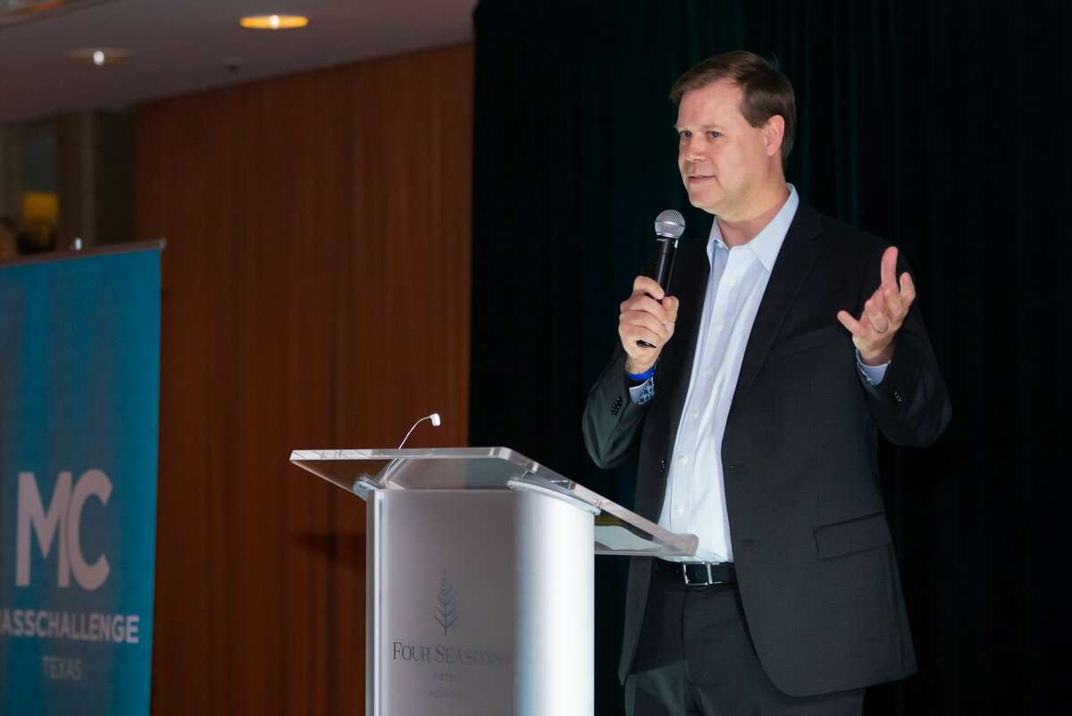 Mike Millard, managing director for MassChallenge Texas, at the launch party Wednesday, April 10, 2019, in Houston.