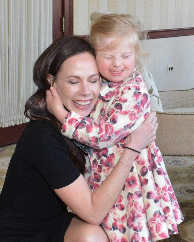 Barbara Pierce Bush with Caitlyn Vitulich of Westport at STAR Inc.'s annual gala in Darien on April 4.