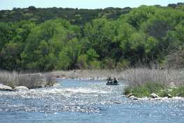 Shallow rapids on the Brazos River can be tricky.