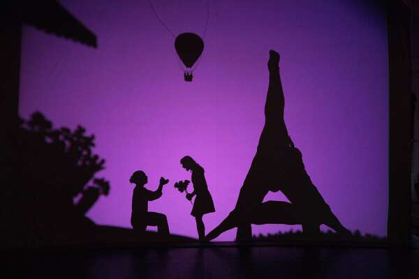"""A scene from Pilobolus' """"Shadowland: The New Adventure,"""" which visits Jones Hall April 13, presented by Society for the Performing Arts."""