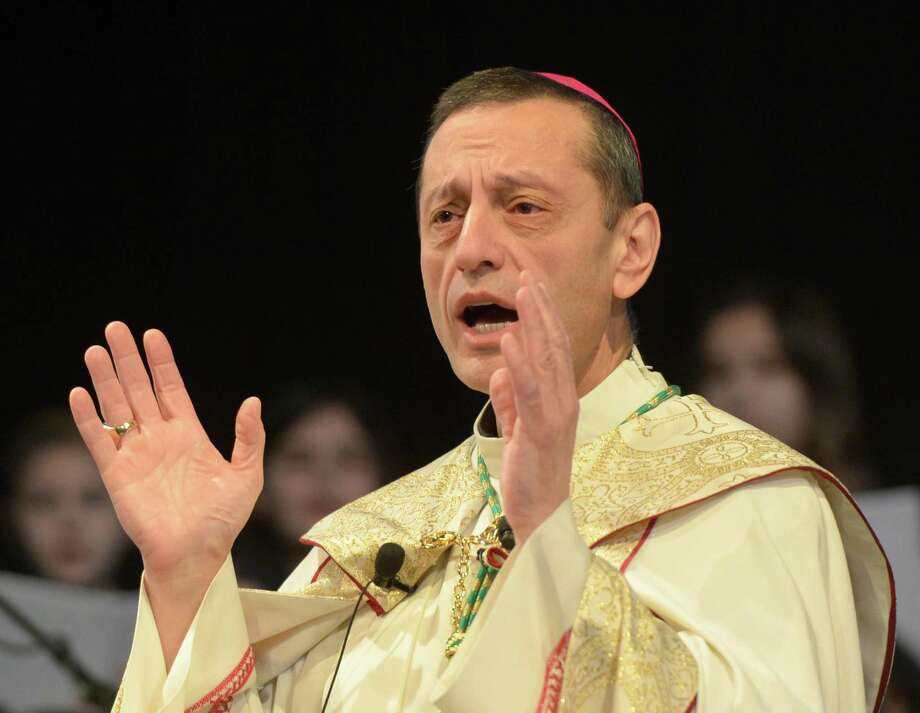 Bishop Frank Caggiano of the Diocese of Bridgeport. Photo: Tyler Sizemore / Hearst Connecticut Media / Greenwich Time