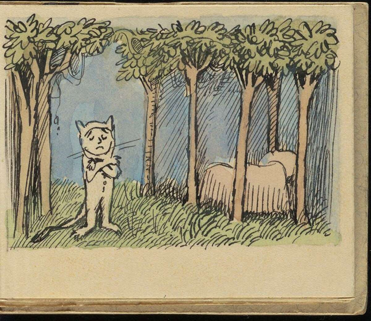 Dummy for Where the Wild Things Are (1963), 26:9, The Maurice Sendak Collection. Archives & Special Collections at the Thomas J. Dodd Research Center, University of Connecticut Library. © The Maurice Sendak Foundation.