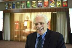 Rabbi Joshua Hammerman poses at Temple Beth El in Stamford.