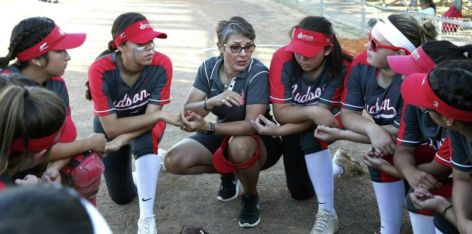 Judson softball coach Theresa Urbanovsky picked up her 300th career win with the Rockets' dramatic 6-5 triumph Tuesday over Smithson Valley. Photo: Ronald Cortes /Contributor / 2019 Ronald Cortes