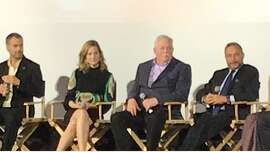 Q& line-up at SFFilm Festival opener:� (From left) Murray Bartlett, Laura Linney, Armistead Maupin and director Alan Poul