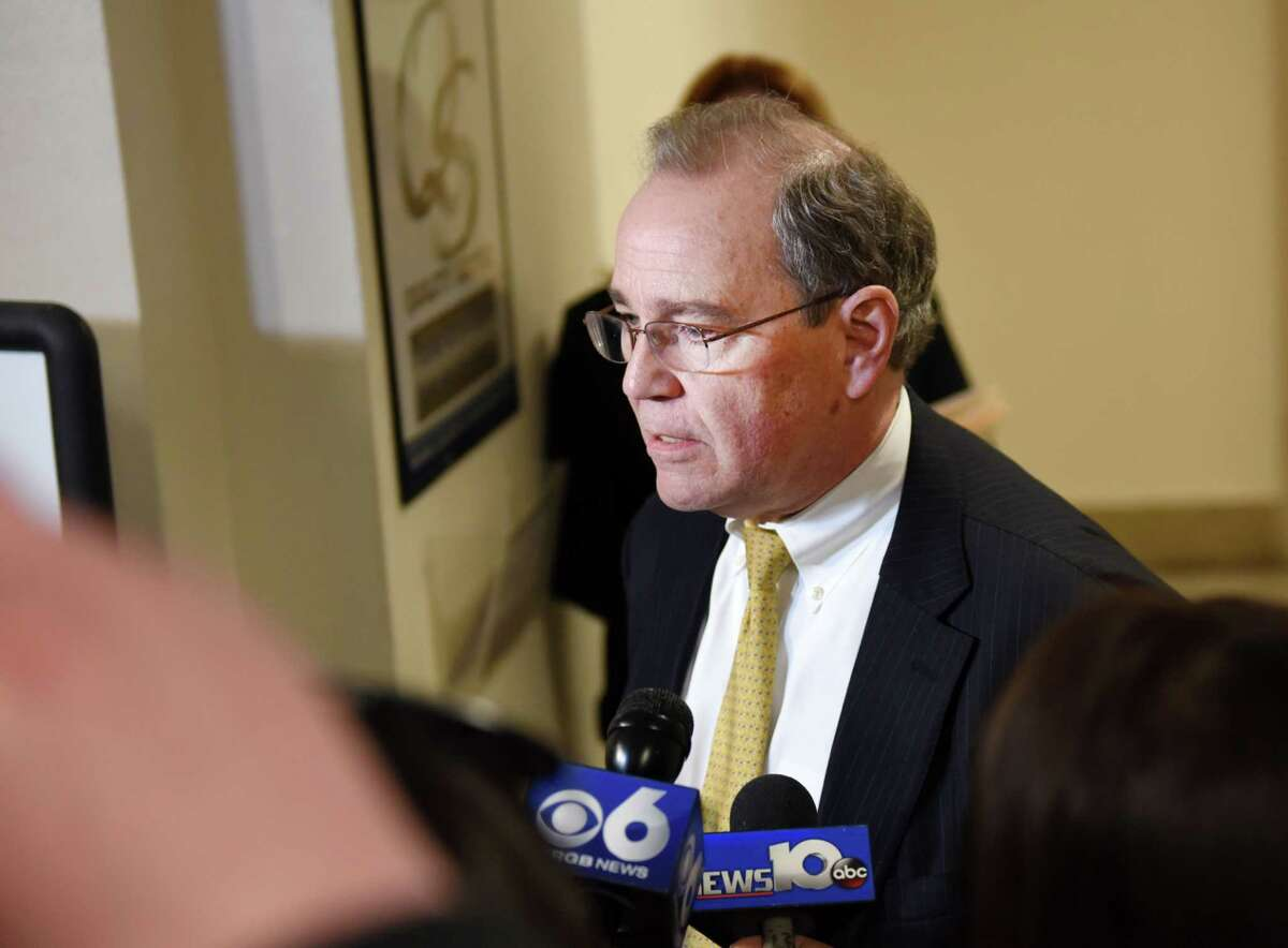 On April 11, 2019, Schenectady District Attorney Robert Carney discusses the guilty plea of Heaven Puleski, the Schenectady woman whose conviction earlier this month was the last pending homicide in his office. (Phoebe Sheehan/Times Union)