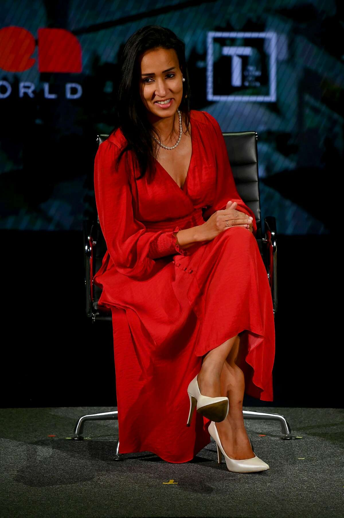 NEW YORK, NEW YORK - APRIL 10: Manal Al-Sharif speaks at the 10th Anniversary Women In The World Summit at David H. Koch Theater at Lincoln Center on April 10, 2019 in New York City. (Photo by Mike Coppola/Getty Images)