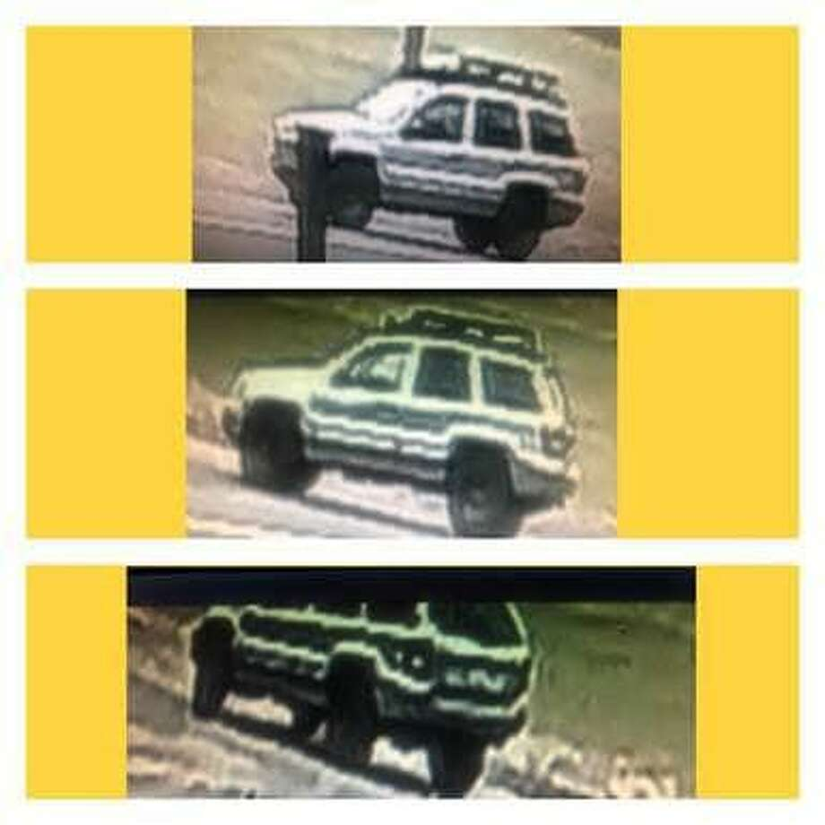 North Haven police are looking to identify the owner or operator of this vehicle, seen near a recent fire on Warner Road. Photo: North Haven Police Department