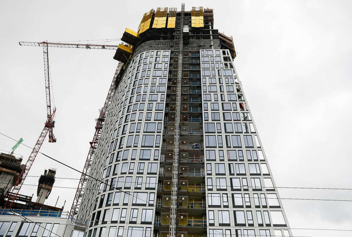 A large office and housing complex is seen under construction on the corner of South Van Ness Avenue and Mission Street in San Francisco, Calif. Tuesday, April 2, 2019.