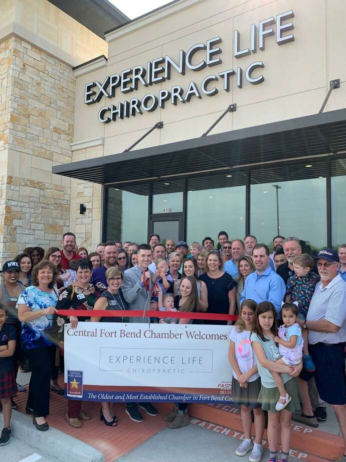The Central Fort Bend Chamber and the community celebrated the grand opening and ribbon cutting for Experience Life Chiropractic in Richmond on April 4. Photo: Courtesy Photo