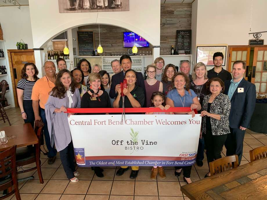 The Central Fort Bend Chamber welcomed new member Off the Vine Bistro, Restaurant & Wine Bar with a ribbon cutting on April 4 at 2865 Dulles Ave. in Missouri City. Photo: Courtesy Photo