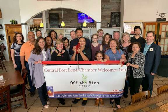 The Central Fort Bend Chamber welcomed new member Off the Vine Bistro, Restaurant & Wine Bar with a ribbon cutting on April 4at 2865 Dulles Ave. in Missouri City.