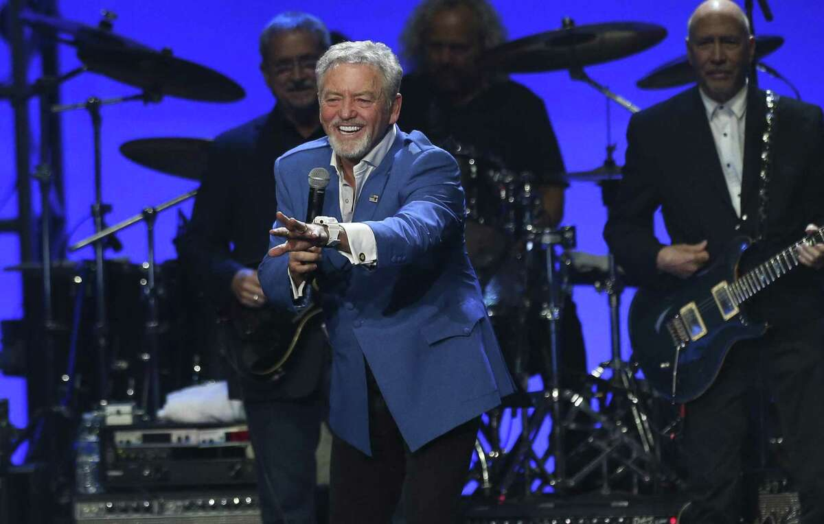 Larry Gatlin introduces his brothers and sister at the Deep From the Heart: The One America Appeal Concert at Texas A&M University's Reed Arena Saturday, Oct. 21, 2017, in College Station. All proceeds from the concert will go to the special hurricane recovery effort benefiting Texas, Florida, and the Caribbean. ( Yi-Chin Lee / Houston Chronicle )