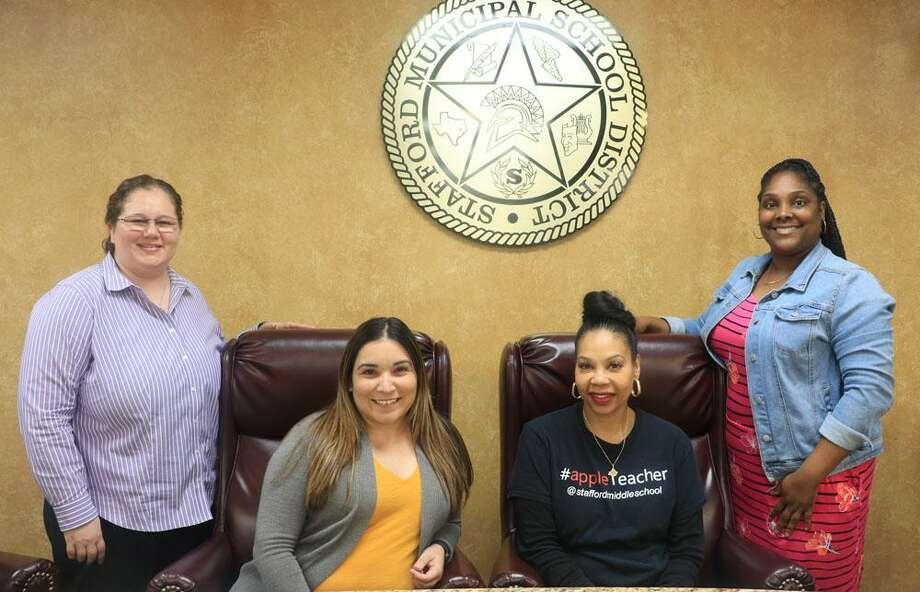 The Stafford Municipal School District has named its campus teachers of the year, includingMaricela Diaz (Stafford Elementary), Zenikka Nichols (Stafford Intermediate), Djuna Cole (Stafford Middle) and Nicole Herbert (Stafford High). Photo: Stafford MSD