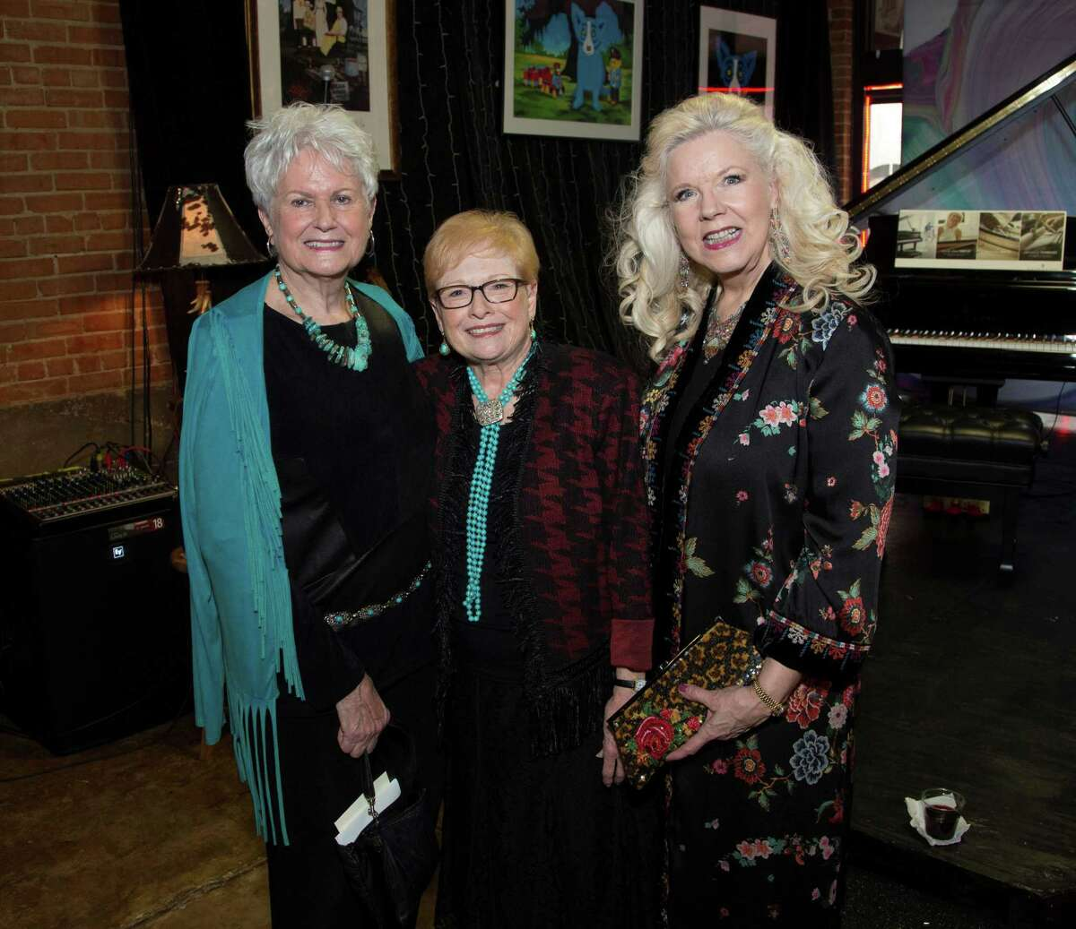 Annette Spikes, Carol Aycock and Garlaine Kelly attend the annual Bach, Barbecue and Beethoven fundraiser prior to the Finalist Concert for the Young Texas Artists Music Competition on March 9 in downtown Conroe. This year's event is set for March 14 at 5 p.m. at the YTA Pavilion near the Crighton Theatre.