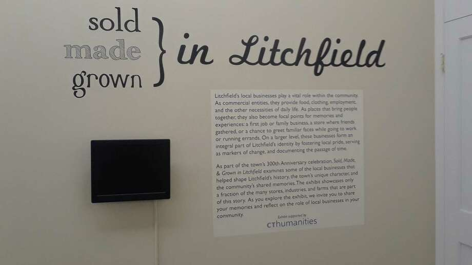The Litchfield Historical Society's new exhibit, Sold, Made, & Grown in Litchfield, opens Friday night. The exhibit, marking the town's 300th birthday this year, features Litchfield's many businesses, including stores, farms and factories. Photo: Emily M. Olson / Hearst Connecticut Media /