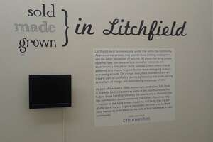 The Litchfield Historical Society's new exhibit, Sold, Made, & Grown in Litchfield, opens Friday night. The exhibit, marking the town's 300th birthday this year, features Litchfield's many businesses, including stores, farms and factories.