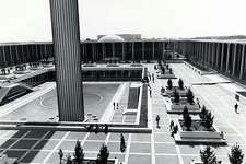 The UAlbany campus in 1969, with the PAC in the background. (Photo courtesy UAlbany PAC)
