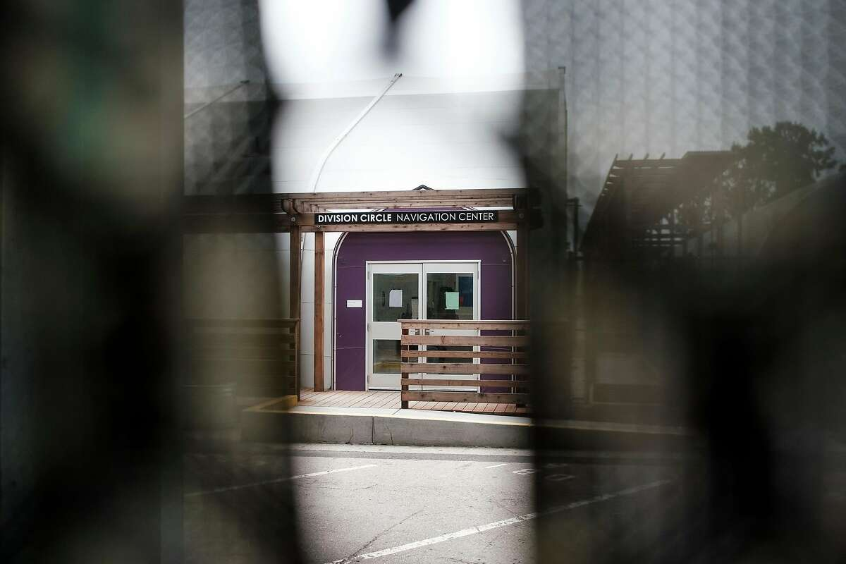 Exterior views of the Division Circle Navigation Center in San Francisco, Calif, on Thursday, April 11, 2019. Supervisor Matt Haney plans to introduce an ordinance next week that would require San Francisco to build a Navigation Center in every district.