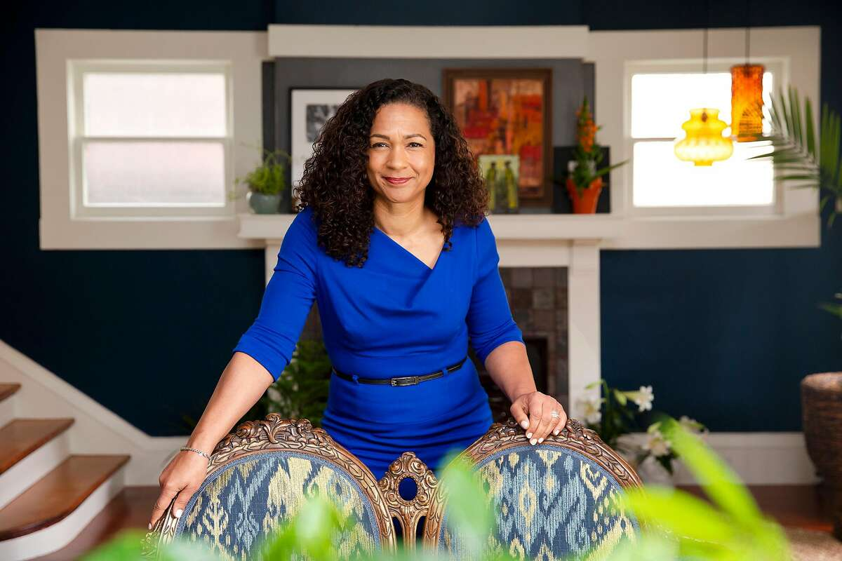 Aimee Allison, Oakland activist and writer, poses for a photograph at her home in Oakland, Calif. on Thursday, April 11, 2019. Allison's organization, She the People, will be sponsoring the first ever presidential forum centered on women of color. The forum is being held on April 24 at Texas Southern University in Houston, Texas.