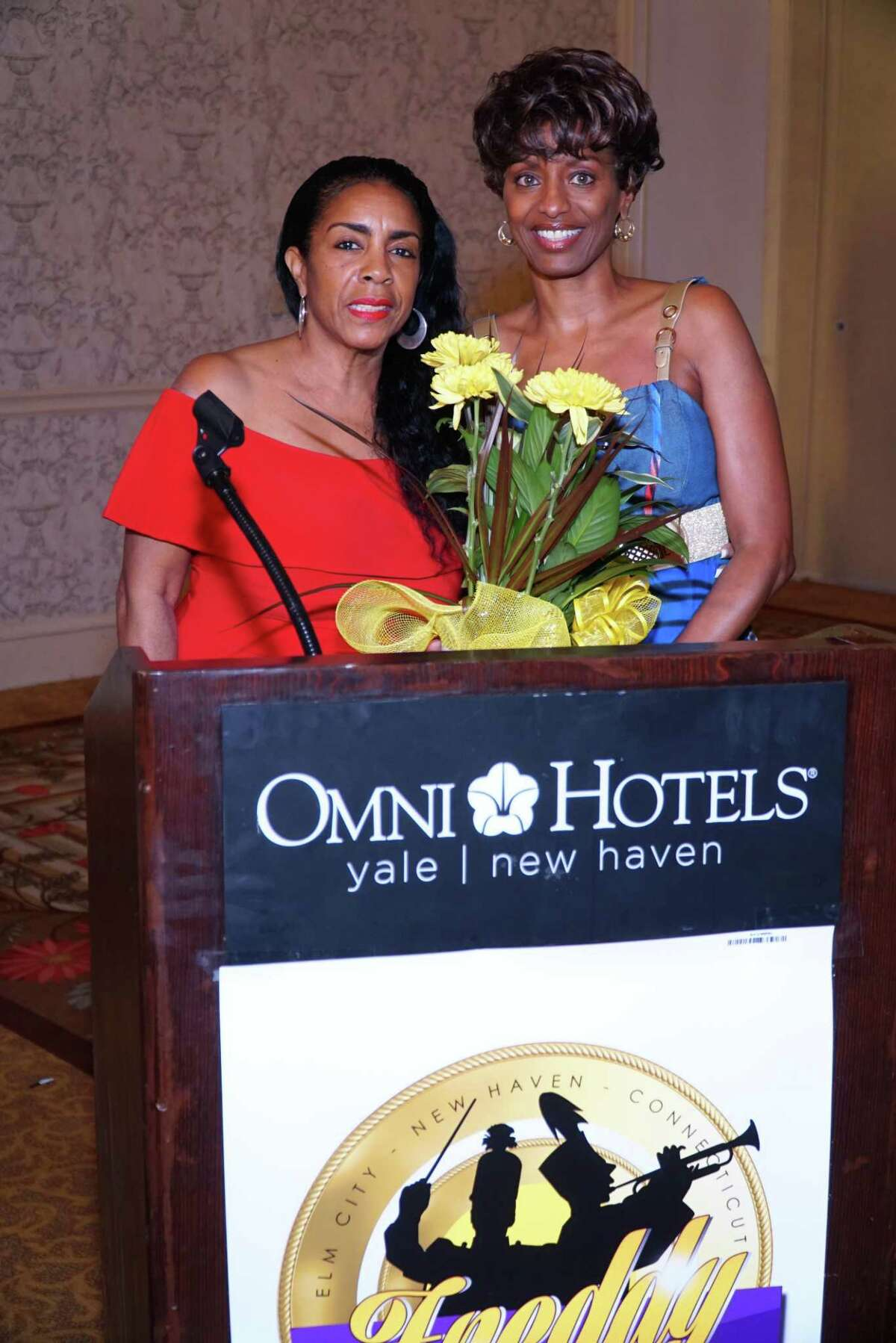 Executive Board members Diane X. Brown, vice president, left; and Petisia M. Adger, president.