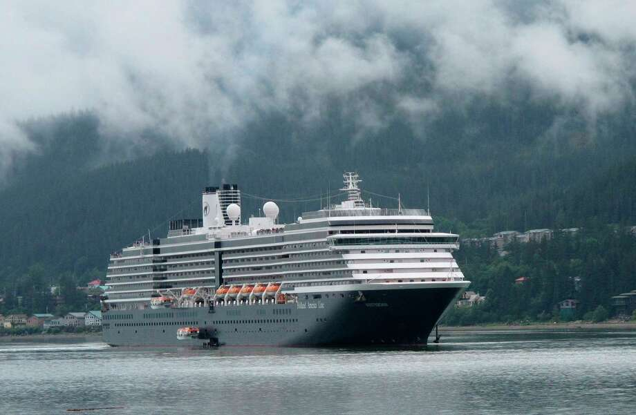 FILE- In this Aug. 29, 2011 file photo, the Holland America Westerdam, is shown in Juneau, Alaska. A federal judge in Miami threatened on Wednesday, April 10, 2019, to temporarily block Carnival Corp. from docking cruise ships at ports in the United States as punishment for a possible probation violation. (AP Photo/Becky Bohrer, File) Photo: Becky Bohrer / AP2011
