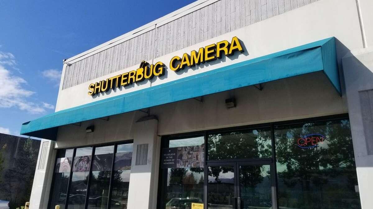 The storefront of Shutterbug Camera.
