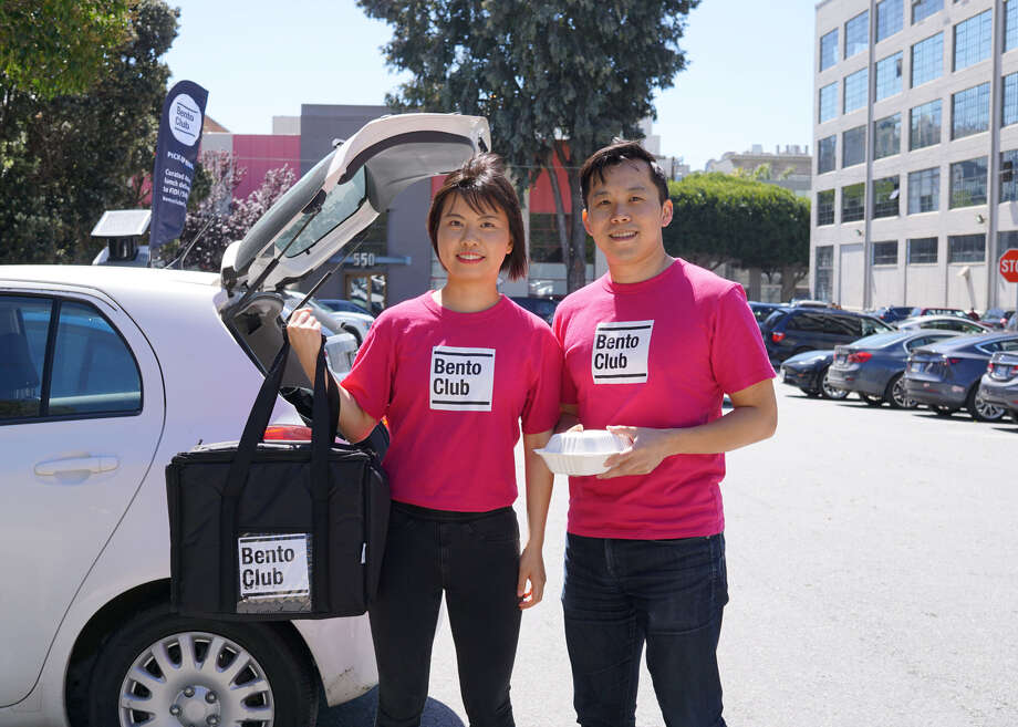 Joseph Lai and co-founder Wenjing Yu launched Bento Club, a new food delivery service in San Francisco. Photo: Bento Club