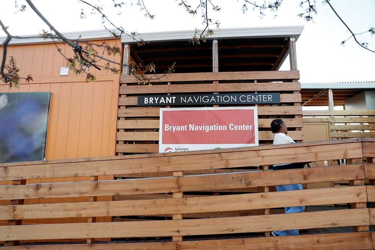 Bryant Navigation Center on Bryant Street in San Francisco, Calif., on Wednesday, April 10, 2019.