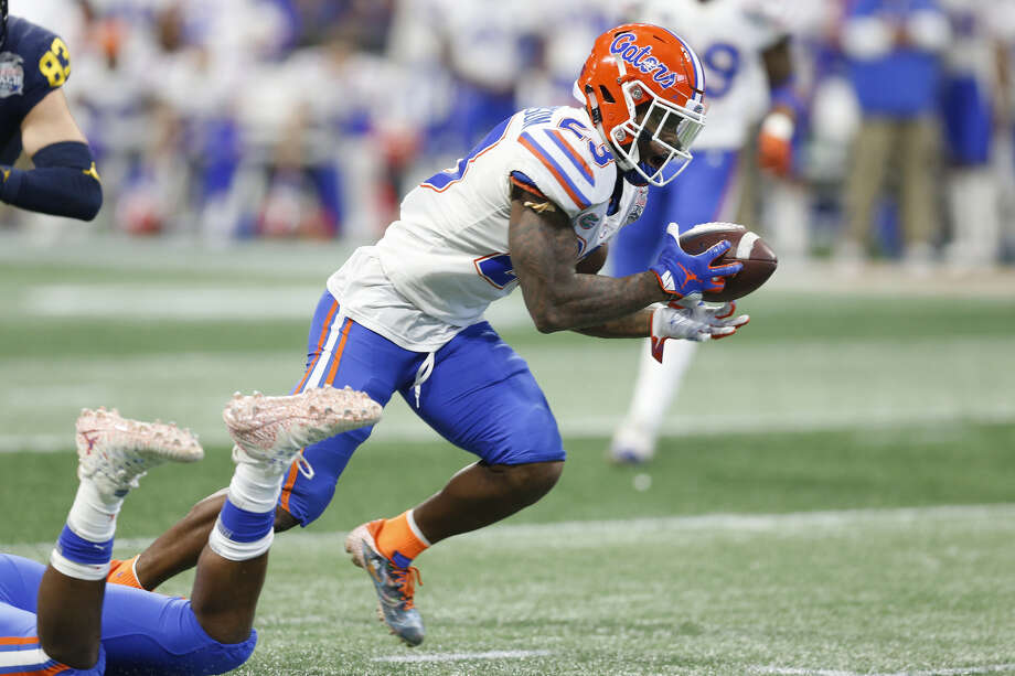 Round 1, No. 21 overall: DB Chauncey Gardner-Johnson, Florida (5 feet 11 inches, 210 pounds) I will stand firm on the belief that the Seahawks won't use their top pick on an edge player, as many early mock drafts projected. With the recent signings of Cassius Marsh and Nate Orchard, Seattle currently has nine pass rushers under contract.  And under the assumption the Seahawks don't wind up using this pick on a receiver -- Pete Carroll has expressed confidence in both David Moore and Jaron Brown for 2019 this offseason -- a defensive back seems like a serious option.  There isn't a huge need at neither corner nor safety (based on what Carroll and general manager John Schneider have said this offseason0, but there is somewhat of a need. And Florida's Chauncey Gardner-Johnson may be the best player in the draft if you want someone that can do both. He can play in the slot, too -- a spot with some uncertainty in Seattle following the departure of Justin Coleman in free agency. His versatility could be intriguing to Pete Carroll.  Gardner-Johnson had 71 tackles, four interceptions (including two pick-sixes), three sacks and two pass breakups for the Gators as a junior last season. Photo: Mike Zarrilli/Getty Images