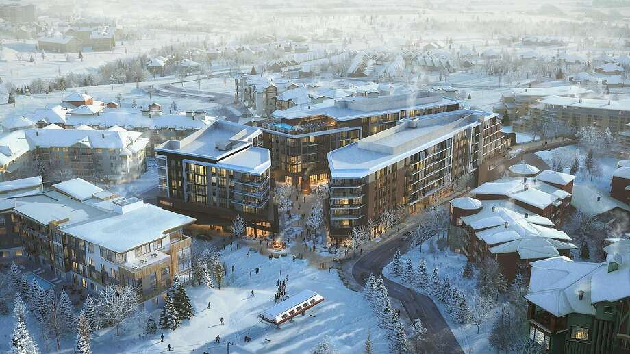 This aerial rendering of the Pendry Residences Park City showcases the luxury development that will be completed in 2021. Photo: Pendry Residences Park City