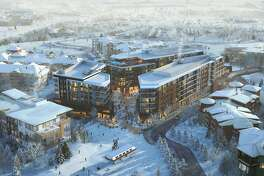 This aerial rendering of the Pendry Residences Park City showcases the luxury development that will be completed in 2021.