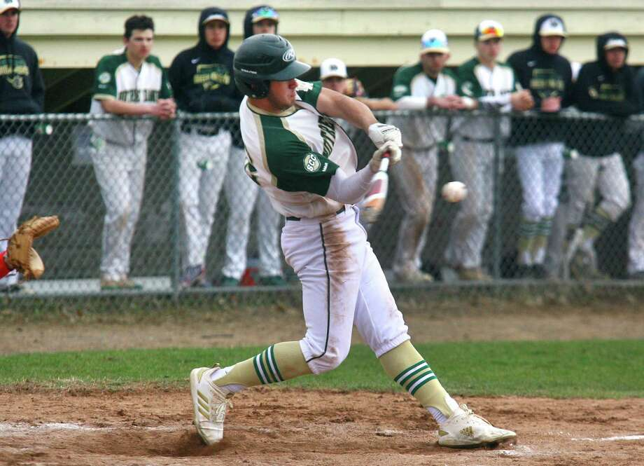 High school baseball action between Fairfield Prep and Notre Dame of West Haven in West Haven, Conn., on Thursday April 11, 2019. Photo: Christian Abraham / Hearst Connecticut Media / Connecticut Post