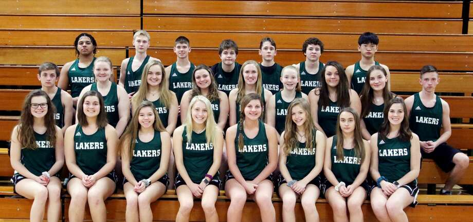 Members of the Elkton-Pigeon-Bay Port track team are (front row from left) Leah Truemner, Leah Irion, Ashley Kuhl, Kaylynn Carr, Abbey Smith, McKenzie Gothro, Joslyn Cociuba and Karly Cunningham (middle row) Samuel Gasta, Haley McArdle, Emma Irion, Jordyn Wisenbaugh, Heather Rooney, Erin McArdle, Marissa Jarson, Greta Thomsen and Jared Chandler (back row) Isiah Sageman, Brendan Adams, Noah Vaughan, Daniel Velasco, Alex Smith, Zac Kretzschmer and Mihayu Kim.
