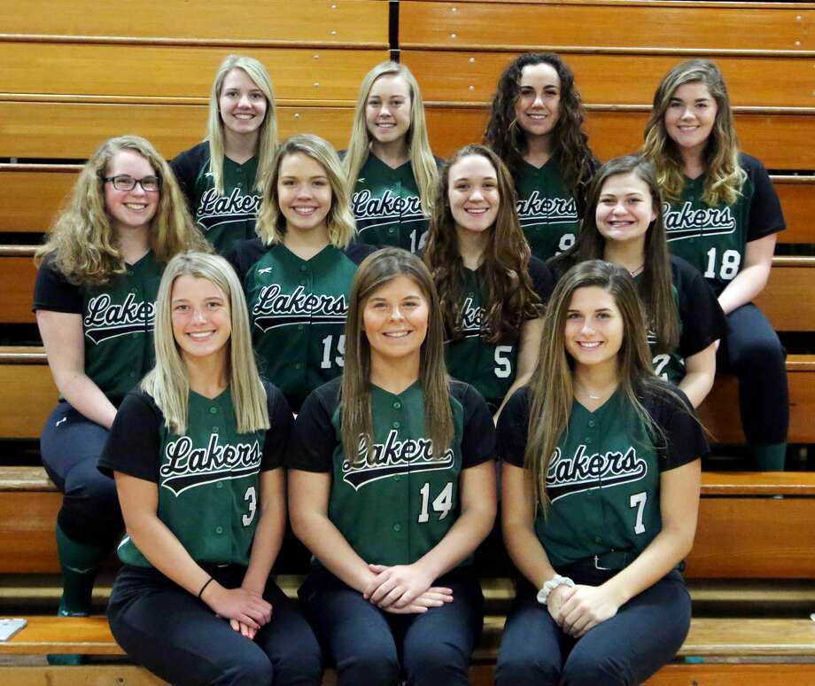 Members of the Elkton-Pigeon-Bay Port varsity softball team are (front row from left) Kristyn Wurst, Katlin Kady and Abigail Schuette (middle row) Greta Elston, Lanea Rosa, Kyle Bowles and Maddie Wisenbaugh (back row) Tiffany White, Jaelyn Talaski, Emily Guardian and Addison Pasek.  EPBP Softball Kristyn Wurst Katlin Kady Abigail Schuette Greta Elston Lanea Rosa Kyle Bowles Maddie Wisenbaugh Tiffany White Jaelyn Talaski Emily Guardian Addison Pasek Head Coach Barry Albrecht  Schedule April 12 vs. Sandusky April 13 Thumb Tournament at Millington April 15 vs. Harbor Beach April 18 at Caro* April 23 at Ubly April 25 at Reese* April 29 at Brown City May 2 vs. Yale May 4 Shepherd Invitational May 6 vs. Capac May 8 at USA* May 13 vs. Cass City* May 17 vs. Bad Axe* May 18 Almont Tournament May 20 at Marlette May 23 vs. Vassar* May 29 Districts at EPBP May 31 Districts at EPBP *League Game  Photo: Paul P. Adams/Huron Daily Tribune