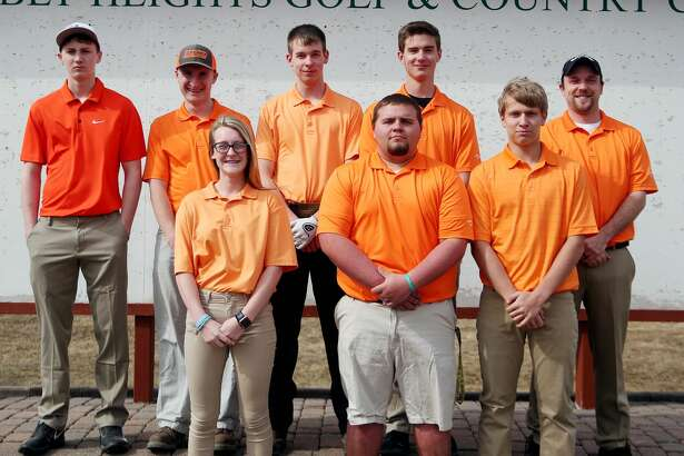 Members of the Ubly golf team are (front row from left) Jaiden Schulte, Nathan Particka and Nicholas Wright (back row) Blake Badger, Eli Emming, Zachary Ziehm, Isaac Warczinsky and coach David Hanson. Ubly Golf  Jaiden Schulte Nathan Particka  Nicholas Wright  Blake Badger Eli Emming Zachary Ziehm Isaac Warczinsky Head Coach David Hanson Schedule April 22 Brown City Jamboree April 25 Ubly Jamboree April 26 Ubly Invitational  April 29 Harbor Beach Jamboree May 2 Sandusky Jamboree May 6 Capac Jamboree May 15 Brown City Invitational  May 20 GTC League Tournament at Scenic Golf & Country Club  p.p1 {margin: 0.0px 0.0px 0.0px 0.0px; font: 18.0px Helvetica} p.p2 {margin: 0.0px 0.0px 0.0px 0.0px; font: 18.0px Helvetica; min-height: 22.0px} May 31 Regional at Verona Hills Golf Club
