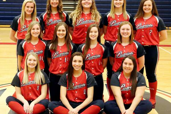Members of the Unionville-Sebewaing Area varsity softball team are (front row from left) Nichole Schember, Rylee Zimmer and Delanie Pavlichek (middle row) Grace Williamson, Macy Reinhardt, Maci Montgomery and Brynn Polega (back row) Bailey Sy, Chelsea Bolzman, Carissa Dinsmoore, Danielle Harper and Laci Harris. USA Softball  1 Maci Montgomery 2 Rylee Zimmer 3 Chelsea Bolzman 4 Danielle Harper 5 Nichole Schember 6 Bailey Sy 7 Laci Harris 9 Delanie Pavlichek  10 Grace Williamson 13 Carissa Dinsmoore 14 Macy Reinhardt 22 Brynn Polega  Coach  Isaiah Gainforth  Schedule April 12 vs. Brown City  April 18 at Sanford Meridian  April 20 Beaverton Inivitational  April 25 at Caro* April 29 vs. Harbor Beach  May 2 at Cass City  May 4 Coleman Tournament  May 6 at Marlette  May 8 vs. EPBP* May 10 vs. Garber  May 13 vs. Reese* May 17 at Vassar  May 18 Swan Valley Invitational  May 20 vs. Sandusky  May 23 vs. Bad Axe* *League Game