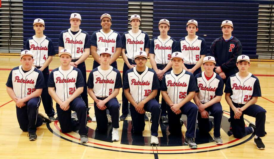 Members of the Unionville-Sebewaing Area varsity baseball team are (front row from left) Nic Lutz, Rocky Hahn, Evan Goslin, Cruz Fernandez, Braden Carter, Caden Finkbeiner and Chase Payne (back row) Joshua Eurich, Keegan Bixman, Jalen Gangler, Cody Babcock, Zach Soper, Jeremiah Hahn and Tyler Osantowske.