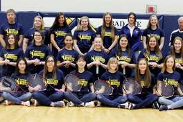 Members of the Bad Axe tennis team are (front row from left) Katey Krohn, Aritsara Sawetsuttipan, Rylee Janssen, Subin Seo, Bethanie Engel, Madison Kociba, Jailyn Campbell, Jordan Reinhart (middle row) Zoe Howard, Ashley Dennis, Isadora Augusto, Alyssia Gucwa, Megan Miller, Megan Booms, Amanda Nugent (back row) coach Mark Prescott, Adriana Prill, Jelena Prescott, Kyla Gilbert, Anna Trhlikova, Lucia Butragweno, Meadow Glass and coach Michael Cowles. Bad Axe Tennis   Katey Krohn Aritsara Sawetsuttipan Rylee Janssen Subin Seo Bethanie Engel Madison Kociba Jailyn Campbell Jordan Reinhart Zoe Howard Ashley Dennis Isadora Augusto Alyssia Gucwa Megan Miller Megan Booms Amanda Nugent Adriana Prill Jelena Prescott Kyla Gilbert Anna Trhlikova Lucia Butragweno Meadow Glass  Coaches  Mark Prescott Michael Cowles Schedule  April 24 at BCAS  April 26 at Caro April 29 at Cros-Lex May 2 vs. Caro  May 4 Yale Doubles Invitational  May 7 at EPBP  May 10 at BCAS  May 14 vs. BCAS